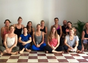 Happy Students after an amazing class at Casco Yoga