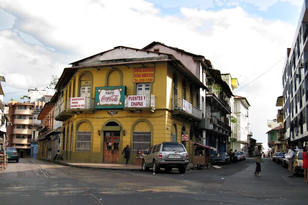 Panama City travel guide: this is Casco Viejo, Panama City - full of great hotels, beautiful buildings and busy streets