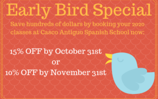 Save on 2020 Spanish Classes in Panama by booking early